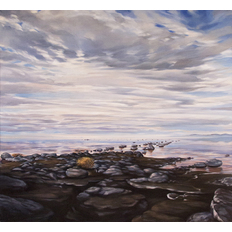 Don Stinson Surfacing: Reversal of Ruins Spiral Jetty, February, 2003 PM
