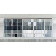 Sarah McKenzie Gates Factory Window #5 (Long Grid with Pole)